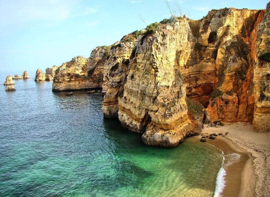 """Praia Dona Ana """"The Golden Rock Beach"""""""