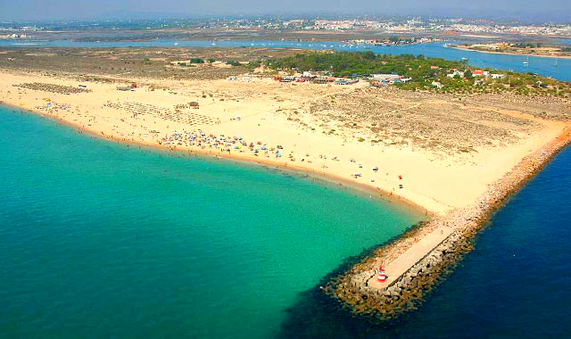 Amazing air view from Tavira Island