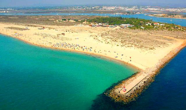 Amazing air view from Tavira Island