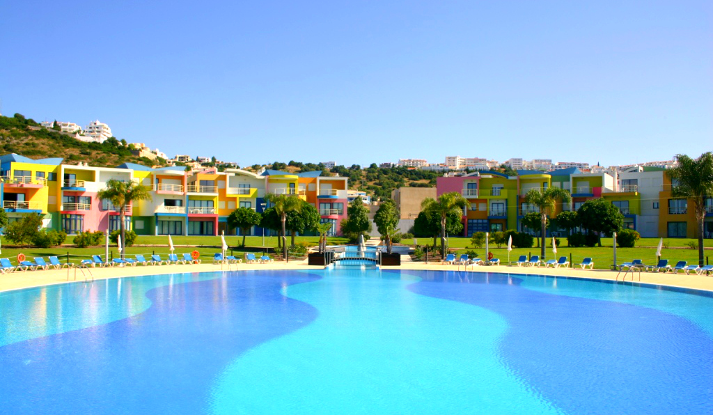 View from the outdoor pool of the complex