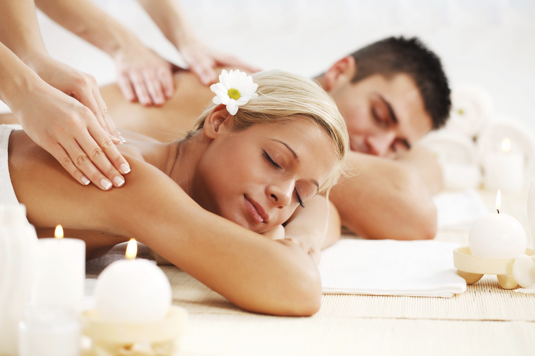 Relaxing back massage on SPA