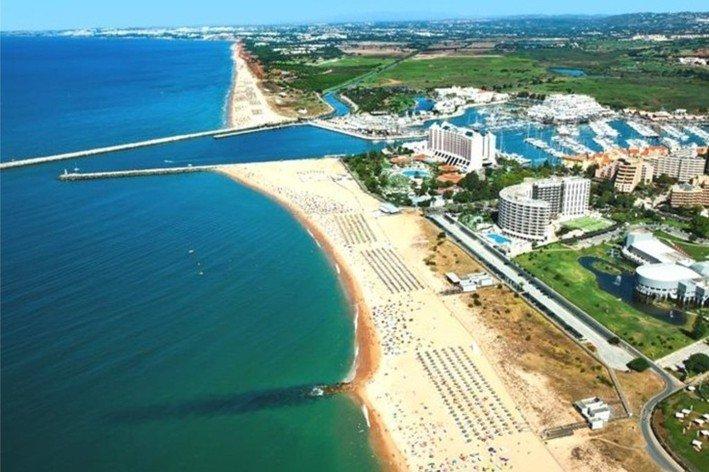 Air view of Vilamoura city