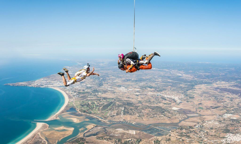 Skydiving in the Algarve
