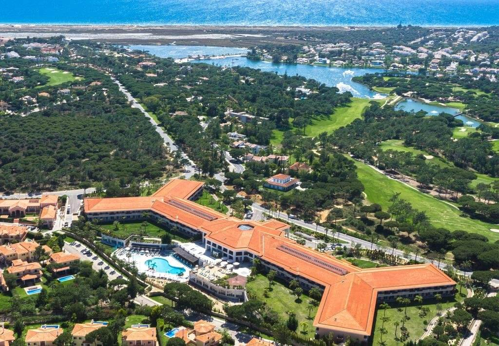 Aerial view of the Wyndham Grand Algarve